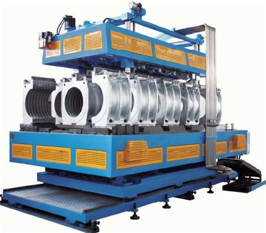 Hdpe Pp Pvc Horizontal Type Double Wall Corrugated Pipe Extrusion Line