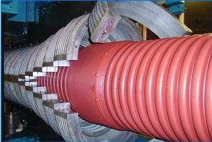 Hdpe Pp Pvc Vertical Double Wall Corrugated Pipe And Ribbed Production Line