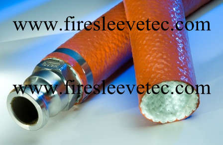 Heavy Duty Silicone Rubber Braided Fiberglass Fire Proof Sleeve