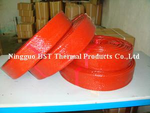 High Bulk Heavy Wall Silicone Coated Fiberglass Firesleeve
