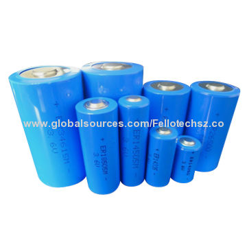High Capacity Lithium Thionyl Chloride 3 6v Lisocl2 Battery Er341245 Dd Size 36an China Manufacturer