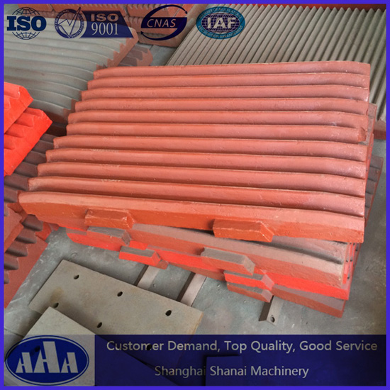 High Manganese Steel Casting Shanbao Pe Series Jaw Plate