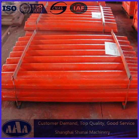 High Manganese Steel Metso C125 Jaw Plate