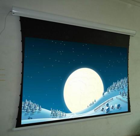 High Qualified Tab Tension Projector Screen With Aluminum Case And 12v Trigger