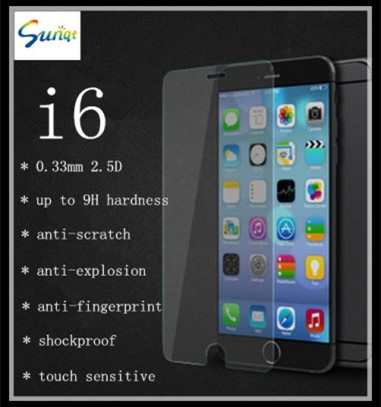 High Quality 9h Tempered Glass Screen Protectors For Iphone 6