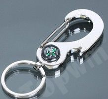 High Quality Compass Keyring