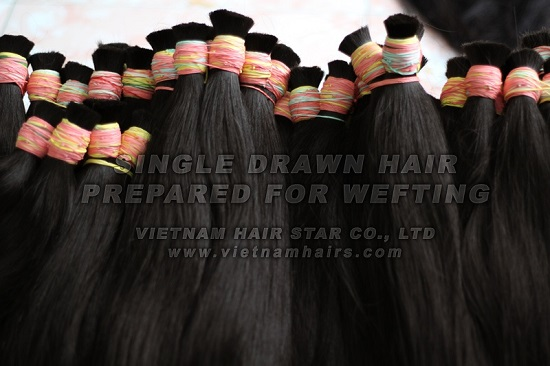 High Quality Human Bulk Hair Prepared For Wefting