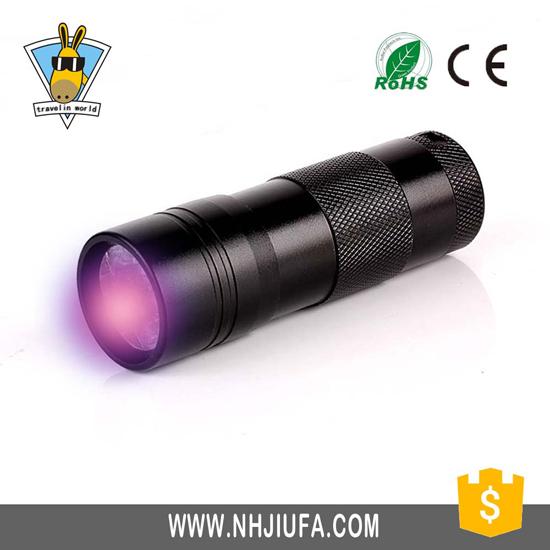 High Quality Purple Light Uv Flashlight Blacklight Urine Detector Led Torch