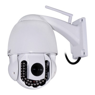 High Resolution Ptz Wireless P2p Dome Outdoor Ip Camera Night Vision