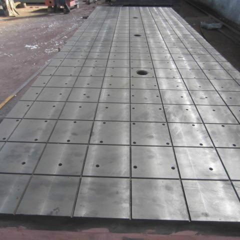 High Strength Rigidity Surface Ht200 Material Cast Iron T Slot Floor Plate