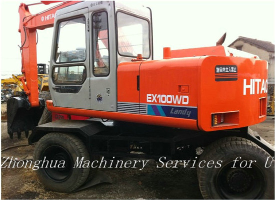 Hitachi Used Wheeled Excavator Ex100wd