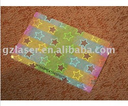 Hologram Laminating Pouches Transparent Custom Size And Pattern