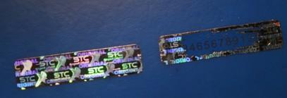 Hologram Scratch Label Security For Cards