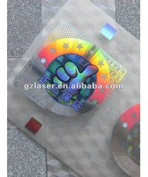 Hologram Self Adhesive Sticker With High Holographic Security