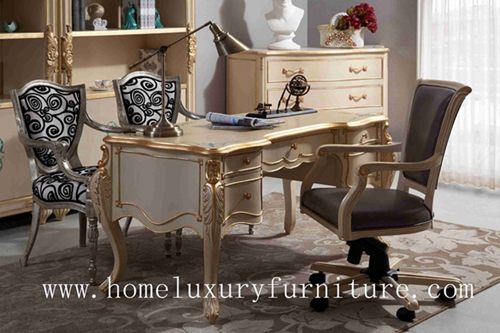 Home Office Table Writer Desk Chairs Book Cases Solid Wood Italy Style Fd 102