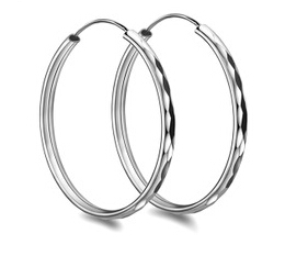 Hoop Earrings Large Silver Uk
