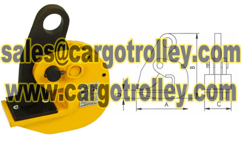 Horizontal Steel Plate Lifting Clamp Price List