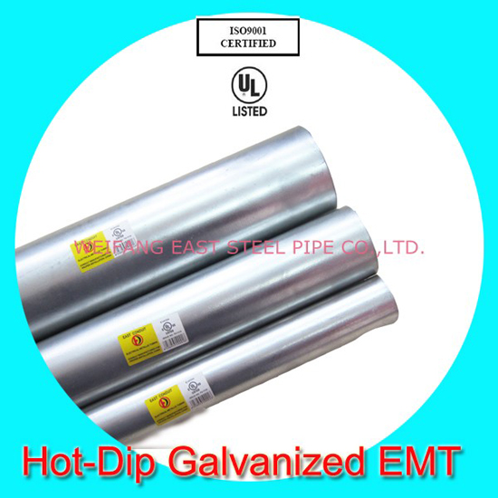 Hot Dip Galvanized Emt Ul797 With Ansi Certificate