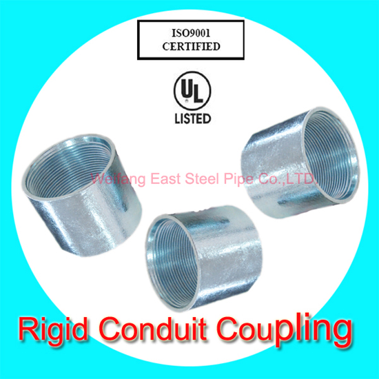 Hot Dip Galvanized Rigid Coupling With Ul And Ansi Standard