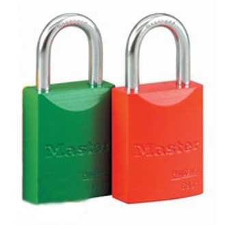 Hot Padlock With Steel Shackle Aluminum Body Color Oxide Coated