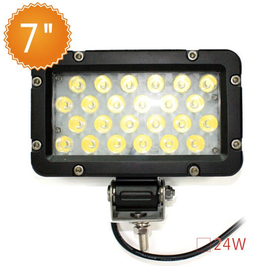 Hot Sale 7 Inch 12v Work Light Led Tractor Lights Ip67 Waterproof 24w