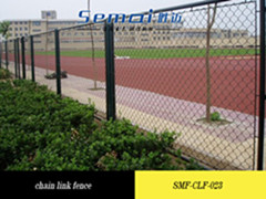 Hot Sale Pvc Coated Chain Link Wire Mesh Fence Anping Factory Uniform Aloy Base