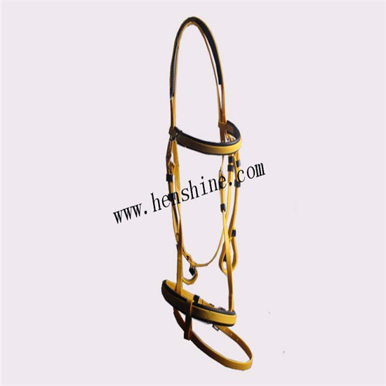 Hot Sell Comfortable Two Noseband Horse Bridle For Racing