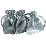 Hotstamp Bag Drawstring Silver Promo Gift Bags