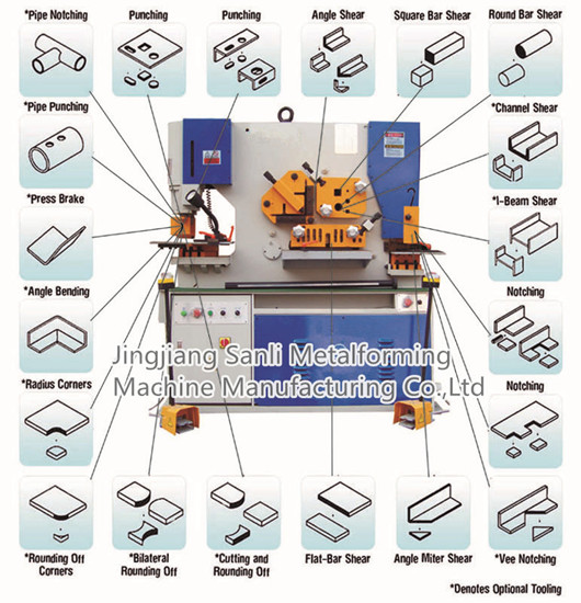 Hydraulic Ironworker Combined Punching And Shearing Machine