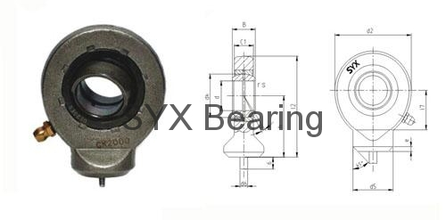 Hydraulic Rod End Bearing Gk35do