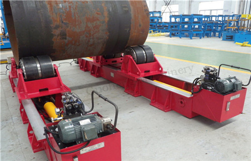 Hydraulic Type Fit Up Tank Rotator For Cylinder Pipe