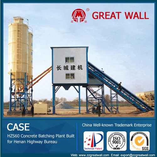 Hzs60 Concrete Batching Plant With China Well Known Trademark