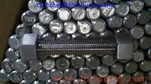 Incoloy 925 Stud Bolt With 2 Heavy Hex Nuts