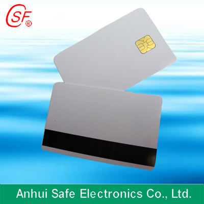Inkjet Magnetic Strip With Chip Card
