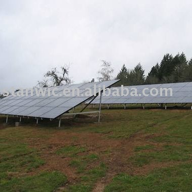 Installed Ground Solar Bracket For Pv Panel