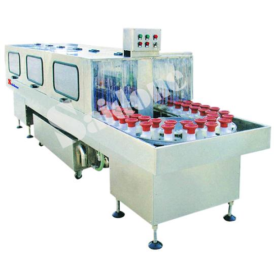 Intermittent Bottle Rinsing Machine With Double Lines