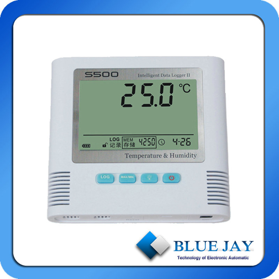 Internal External Sensor With 65000 Points Of Total Software Temperature Data Logger