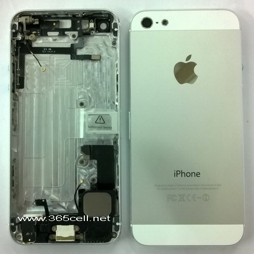 Iphone 5 Back Cover Assembly With Charge Flex Headphone And Small Parts