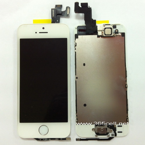 Iphone 5s 100 Oem New Lcd Assembly With Home Key And Sensor Flex Front Camera