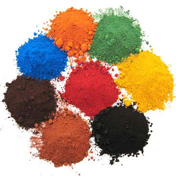 Iron Oxide Red Yellow Black Green Construction Strength Coating