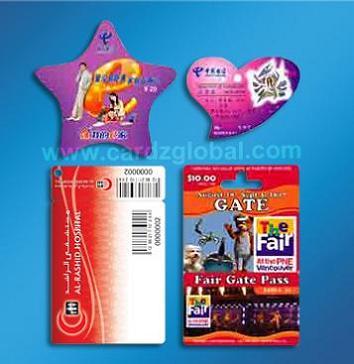 Irregular Shape Cards Pvc Pet G Paper