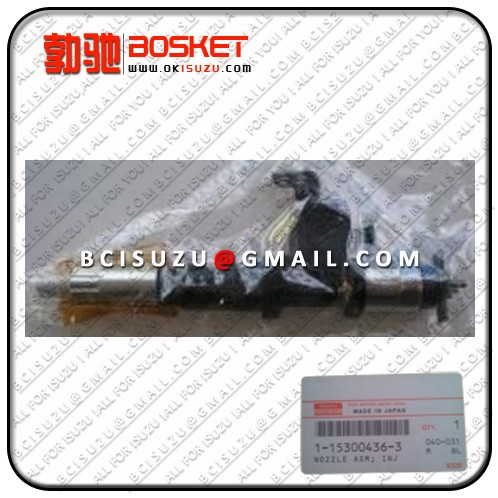 Isuzu For Nozzle Asm Injector 6wg1 1 15300436 0 Denso No 095000 6300