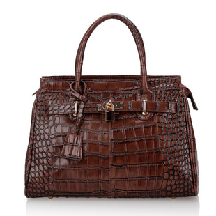Jamie Retro Crocodile Effect Designer Inspired Tote Handbag Jc0167