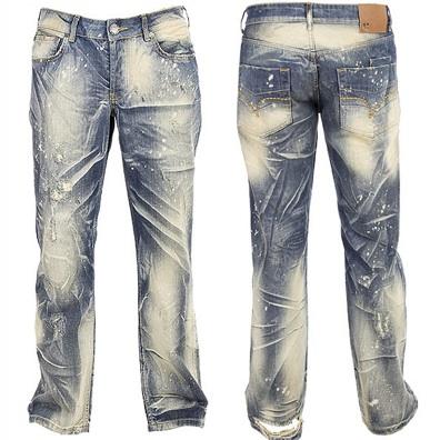 Jeans Destroy Wash Pattern