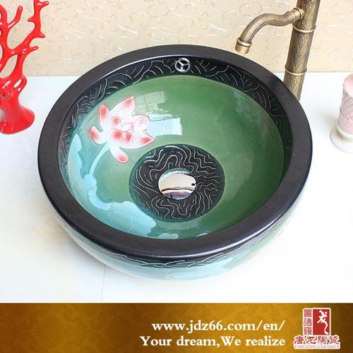 Jingdezhen Ceramic Double Layer Bowl Design Basin