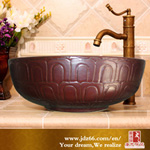 Jingdezhen High Quality Color Glazed Wall Hung Ceramic Basin