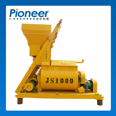 Js1000 Heavy Duty Foam Twin Shaft Concrete Mixer