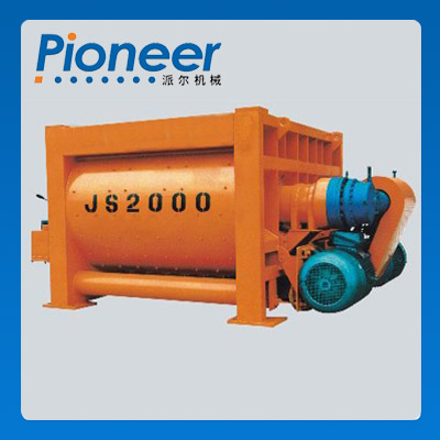 Js2000 China Stationary Double Shaft Ready Mix Concrete Mixer
