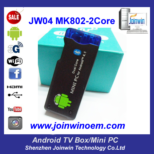 Jw04 One Year Warranty Dual Core Rk3066 Android Mini Pc Dongle