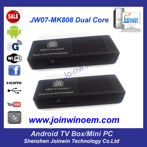 Jw07 Mk808 One Year Warranty Dual Core Rk3066 Camera Mini Pc